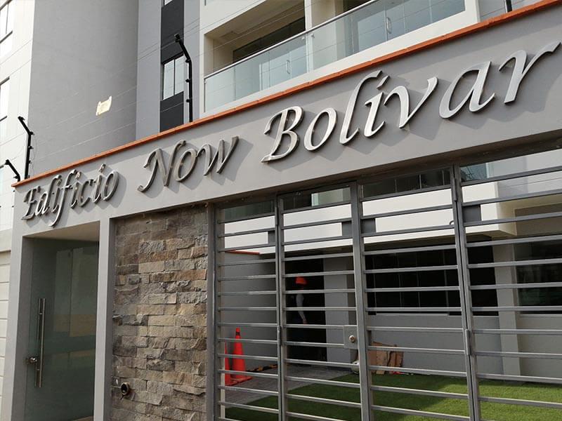letrero-en-acero-inoxidable-edificio-new-bolivar